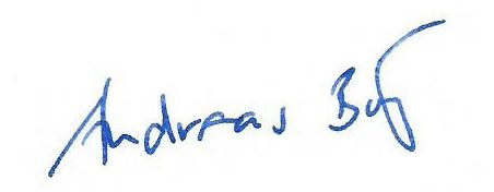 Andreas Böttger Unterschrift