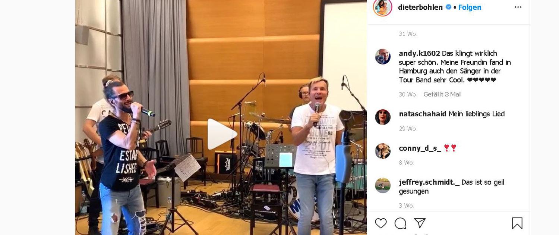 Joyello singt mit Dieter Bohlen und Band bei den Proben in Hamburg
