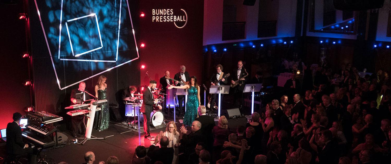 erfolgreiche Galaband und Orchester für Presseball buchen