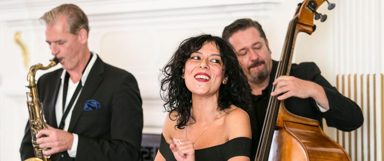 Jzzduo,Jazztrio und Quartett mit Sängerin für Hochzeiten buchen
